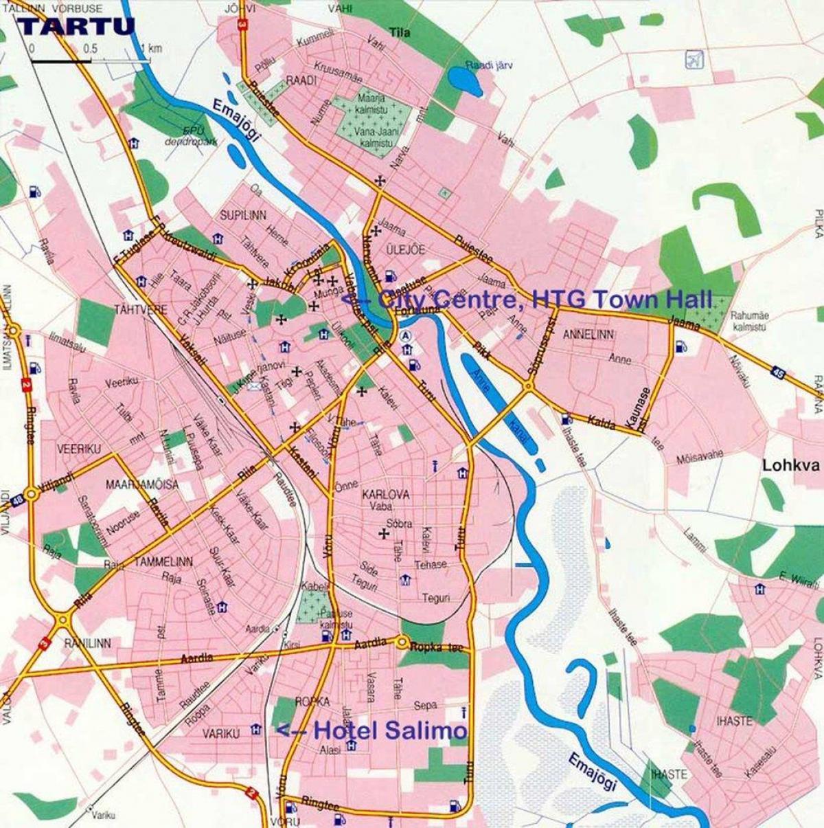 Tarton Kartta Kartta Tartto Viro Pohjois Eurooppa Eurooppa