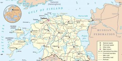 Viron Kartta Kartat Viro Pohjois Eurooppa Eurooppa